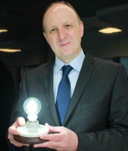 Colin Bailey, University of Manchester with graphene bulb
