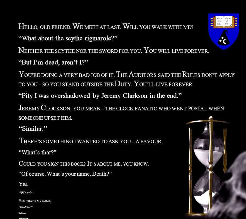 Pratchett dialogue black
