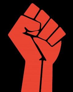 raised fist