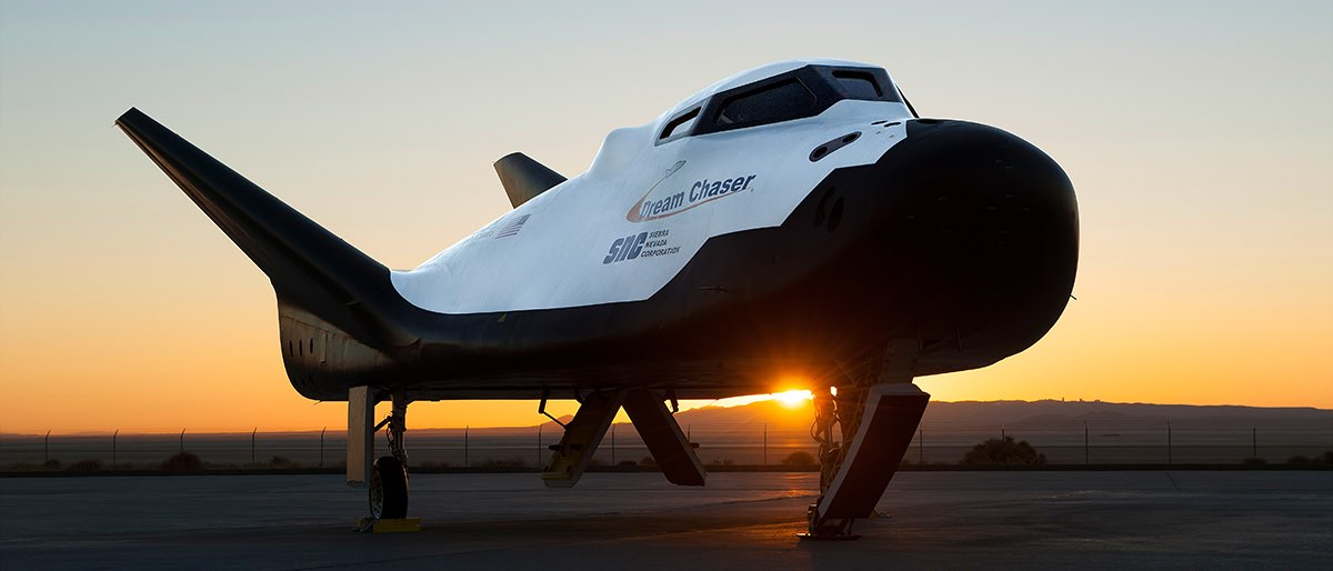 Dream Chaser: a reusable vehicle that launches vertically to low-Earth Orbit (LEO), returning to a runway